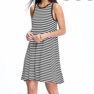 Two old navy striped jersey swing dresses size sm